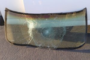 Windshield from pedestrian collision in Fresno